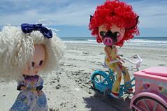 "7. Poup'ee, ""Miss Prim, do you have any banilla?  I LOVE banilla!"" (blythe stole my heart) Tags: bike pig zombie scooter blythe custom outerbanks emeraldisle misfits blyth adg bl beachvacation imreal blythephotos vegaicecream"