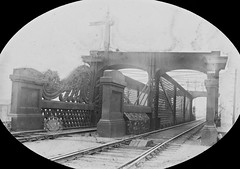 """""""Railway bridge, in an unidentified location"""" is likely on the Dublin/Drogheda line north of Amiens street, Dublin (National Library of Ireland on The Commons) Tags: bridge dublin tracks cables points castiron ornate signal chevron railwaybridge electricwires railwaysignal royalcanal unknownlocation 1845 nationallibraryofireland gnri latticetruss greatnorthernrailwayireland amiensstreetstation locationidentified sirjohnmacneill ossoryroad joshuahhargravecollection dublinanddroghedarailway joshuehhargrave amiensstreetnorth northernrailwayofireland"""