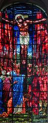 Burne Jones Stained Glass Crucifixion, Birmingham Cathedral (mervyn_w) Tags: birmingham preraphaelite burnejones stphillipscathedral englishmidlands
