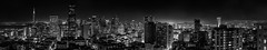 intercontinental 14 monochrome (pbo31) Tags: sanfrancisco california city summer urban blackandwhite panorama black june skyline night dark nikon view over large panoramic financialdistrict vista cbd transamerica stitched nobhill 2016 boury d810