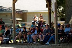 Listening to Bluegrass (joeldinda) Tags: building june barn fan nikon bluegrass charlotte michigan bleacher d300 2016 charlottebluegrassfestival eatoncounty 3155 nikond300 eatoncountyfairground
