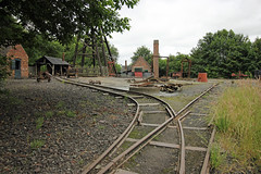 Coal mine buildings (Dave Russell (1.5 million views thanks)) Tags: england black west museum living mine outdoor country rail railway mining cast rails dudley coal narrow drift midlands guage