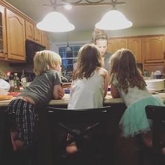Dessert Time With Aunt Christina (matthewkaz) Tags: kids children square dessert ellery child sister kentucky christina daughter gingham squareformat colton madeleine morehead 2016 iphoneography instagramapp uploaded:by=instagram