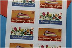 177-366, Geburtstagsbriefmarken (julia_HalleFotoFan) Tags: geburtstag deutschepost briefmarken