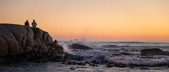 sundowners at sunset (WITHIN the FRAME Photography(4 Million views tha) Tags: ocean sunset two seascape lowlight surf waves fuji silhouettes capetown panoramic atlantic boulders xt1