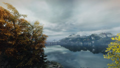 VOEC - 018 (Screenshotgraphy) Tags: bridge sunset mountain lake game nature water colors contrast forest landscape soleil screenshot gare lumire lac ethan steam gaming beaut carter concept paysage vanishing campagne foret beautifull jeu naturelle urbain