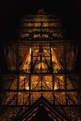 Day 99 (SXN) Tags: light art silhouette night digital canon temple eos rebel 50mm prime evening pagoda kiss nevada perspective x carving noflash burningman nv blackrockcity squid brc glowing tall detailed layered sxn xti img9602 piercesoracco 2013piercesoracco piercesoraccocom