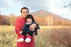 Father and Child at Nantai San (Mt.Nantai) ( Spice (^_^)) Tags: trip travel portrait baby holiday man color male love girl face japan female daddy geotagged asian photography japanese infant asia child father human babygirl  papa bata   bonding anak  babae hija fatherandchild    daddyandbaby  goldenweek    springseason    tatay sanggol tochigiprefecture cutelittlegirl  lalaki magama   nikkoshi    rheinauratsuji   hiroyukiuratsuji