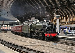 LMS Royal Scot Class 6115 Scots Guardsman York Station July 2010 (jep2510) Tags: york uk england station train yorkshire north engine royal railway class steam special scot scarborough locomotive express railtour spa excursion scots lms guardsman 6115 46115