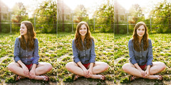 Layne (meghaljanardan) Tags: light sunset summer portrait sun sunlight color girl yellow 35mm canon warm bright sigma flare 5d sunflare markii
