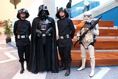 Darth Vader & Entourage 1 (RyC - Behind The Lens) Tags: wow starwars cosplay sanjose superman wonderwoman r2d2 stormtrooper comicbooks supergirl darthvader thor catwoman poisonivy bigwow comicfest