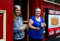 Almost Opening Time (Charles Hamilton Photography) Tags: street ladies portrait people 50mm colours faces glasgow streetphotography streetportrait merchantcity peopleinthecity blackfriarsstreet nikond7000 glasgowstreetphotography glasgowcharacter glasgowstreetportrait strathduiebar