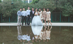 Wedding Day (HIKARU Pan) Tags: wedding boy woman man reflection love girl photography bride asia shanghai classroom chinese documentary weddingdress bridegroom youngwoman youngman weddingceremony china1 35l canonef35mmf14lusm shanghaimaritimeuniversity 5d3