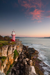 Hornby Lighthouse sunrise (Eddy+) Tags: city blue sky cliff lighthouse seascape rock clouds sunrise canon eos 7d 1022mm nd400 cloudsstormssunsetssunrises