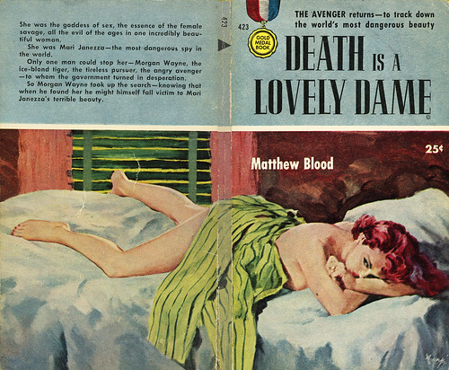 Gold Medal Books 423 - Matthew Blood - Death is a Lovely Dame (with back)