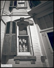 1860's  Laced Windows (DelioTO) Tags: city toronto ontario canada june architecture blackwhite objects pinhole 4x5 bayfield autaut ro9 f315 shanghai100