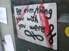 Be everything (-Curly-) Tags: streetart art graffiti sticker stickerart curly