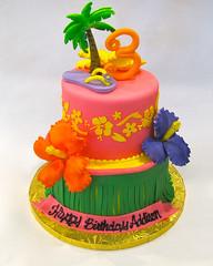 Hawaiian Luau Tiered (Creative Cakes - Tinley Park) Tags: beach luau hawaiian tiered