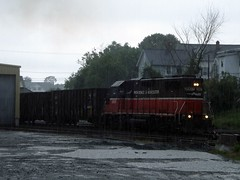 PR3 heading South to the recieving yard (Jamie 17) Tags: ri railroad train photography photo flickr rail rhodeisland rainy transportation railroads pw flickrphoto pr3 flickraward providenceandworcester providenceworcesterrailroad mygearandme