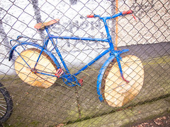 Bicycle with wooden wheels (quinet) Tags: berlin bike bicycle germany wooden wheels holz 2013 enbois