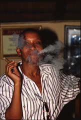 Durban KwaZulu-Natal South Africa African Lady Cigar Smoking May 1998 025 (photographer695) Tags: durban south africa friends lady smoking cigar kwazulunatal african may 1998