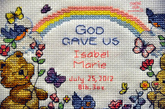 IsabelMarieBirthRecord02 (TrishaLyn) Tags: california crossstitch crafts needlepoint sanleandro birthrecord isabelmarie
