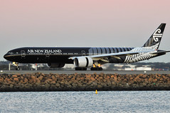 Air New Zealand B777-300ER 'All Black' ZK-OKQ (altinomh) Tags: plane airport aviation sydney engine twin australia mini seven nsw newsouthwales boeing syd 777 triple spotting jumbo sydneyairport b777 yssy etops minijumbo worldliner