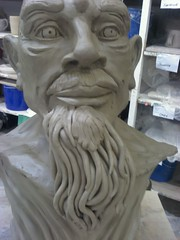 first try at a beard, fail, lol (norbertchi) Tags: sculpture ceramic workinprogress wip clay poseidon neptune triton