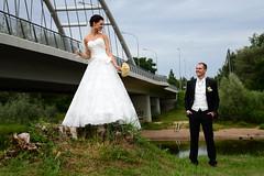 hey, darling! (Dmitry Kaminsky) Tags: flowers wedding love happy bride champagne joy young marriage husband latvia wife justmarried darling sham riga fiance fizz fiancee bunchofflowers saulkrasti bridecouple baltakapa