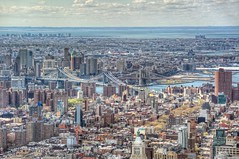 Brooklyn as seen from the top of the Empire State Building in New York City HDR (Dave DiCello) Tags: nyc newyorkcity newyork rooftop brooklyn bar photoshop nikon centralpark manhattan worldtradecenter tripod brooklynbridge manhattanbridge newyorkskyline hudsonriver empirestatebuilding statueofliberty nikkor hdr highdynamicrange nycskyline cs4 thebigapple d600 7worldtradecenter freedomtower photomatix tonemapped 230fifth colorefex cs5 d700 2305th davedicello hdrexposed rooftopbarnewyork observationdeckattheempirestatebuilding 102ndfloorattheempirestatebuilding