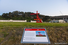 MARK DI SUVERO AT CRISSY FIELD (sbdunkscarl) Tags: bridge blue sky kite building tower beach field yellow night foot 50mm golden bay sand gate san francisco long exposure mark 14 fine steps arts sfmoma palace east filter nd area di setup 18 fx crissy d800 dx suvero 2470mm 2013 1424 at sbdunkscarl wwwsbdunkscarlblogspotcom d800e sbdunkscarlblogspotcom httpwwwsbdunkscarlblogspotcom