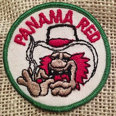 """Panama Red"" patch (Devlin Thompson) Tags: square pot squareformat 70s patch marijuana embroidered iphoneography instagramapp uploaded:by=instagram"