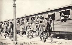 北京火车站-三等车厢 1900s Peking Railway