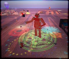 Burn2 - Dinglehenge - Dude (Liz Gealach) Tags: life man sl burningman burning secondlife second burn2 lizgealach dinglehenge