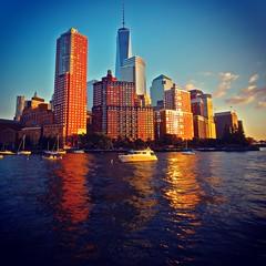 World Trade Center & Battery Park City From Pier 25 NYC (Christian Montone) Tags: nyc newyorkcity newyork manhattan worldtradecenter hudsonriver wtc montone pier25 christianmontone instagram