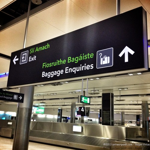 The usual luggage nonsense in Dublin...