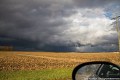 Supercell and Possible Tornado to the Right (Divagirl86) Tags: storm rain clouds illinois cornfield country indiana tornado severe stormchasing supercell severestorms tornadowarned