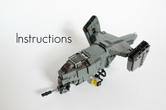 VASP Gunship Instructions ([DARKWATER]) Tags: lego legoinstructions legovtol legogunship legogunshipinstructions