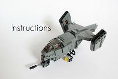 VASP Gunship Instructions ([DARKWATER]) Tags: lego legoinstructions legovtol legogunship legogunshipinstructions