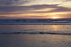 Blues (Getting Better Shots) Tags: ocean sunset beach water clouds oregon waves astoria