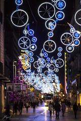 Christmas lights at Portal de l'ngel (Jordi Pay Canals) Tags: barcelona christmas city night canon season eos lights is catalonia canals usm jordi greeting efs 450d portaldelngel 1585mm pay