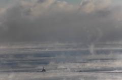 All alone (aerojad) Tags: winter snow chicago lakemichigan chicagoist chiberia