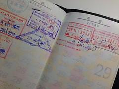Visa (- yt -) Tags: china stamp vietnam passport laos visa uploaded:by=flickrmobile flickriosapp:filter=nofilter
