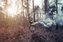 This girl is on fire... (jubu photographie) Tags: nature canon nude smoke 5d 1635