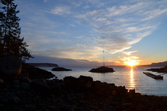 Rockwater sunset (mag3737) Tags: bc cove secret sunshinecoast rockwater rockwatersecretcove
