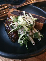 "Brioche crumbed Morcilla, roast apple chutney, fennel <a style=""margin-left:10px; font-size:0.8em;"" href=""http://www.flickr.com/photos/30579997@N08/12555049993/"" target=""_blank"">@flickr</a>"