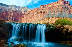 Navajo Falls (Bradley Nash Burgess) Tags: longexposure travel beauty waterfall nationalpark nikon desert roadtrip adventure slowshutter waterblur nationalparks havasupai havasucanyon d7000 nikond7000