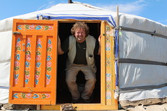I was there (10b travelling / Carsten ten Brink) Tags: camp selfportrait asian asia asien tent mongolia yurt 2012 ger mongolie selfie mongolei 10b khustain khognokhan carstentenbrink iptcbasic