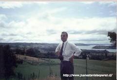 En Dalcahue, viaje de estudio al  Archipiélago de Chiloé,  X Región,  febrero de 1992. Foto tomada por el Profesor Federico Martínez D.