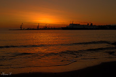 (anna topsi) Tags: sea orange sun water sunrise gold nikon ship hellas greece crete 1855mm 1855 nikkor ports vr heraklion iraklio iraklion kriti     irakleion hrakleio   cloudsstormssunsetssunrises d3100 nikond3100